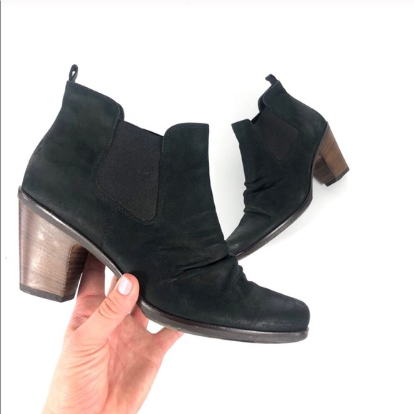 Paul Green Shoes - Paul Green Jano Black Leather Bootie
